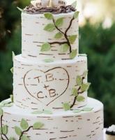 تصاميم لكعكة الزفاف من وحي الطبيعة