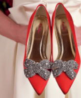 حذاء الزفاف الملون..لإطلالة جريئة